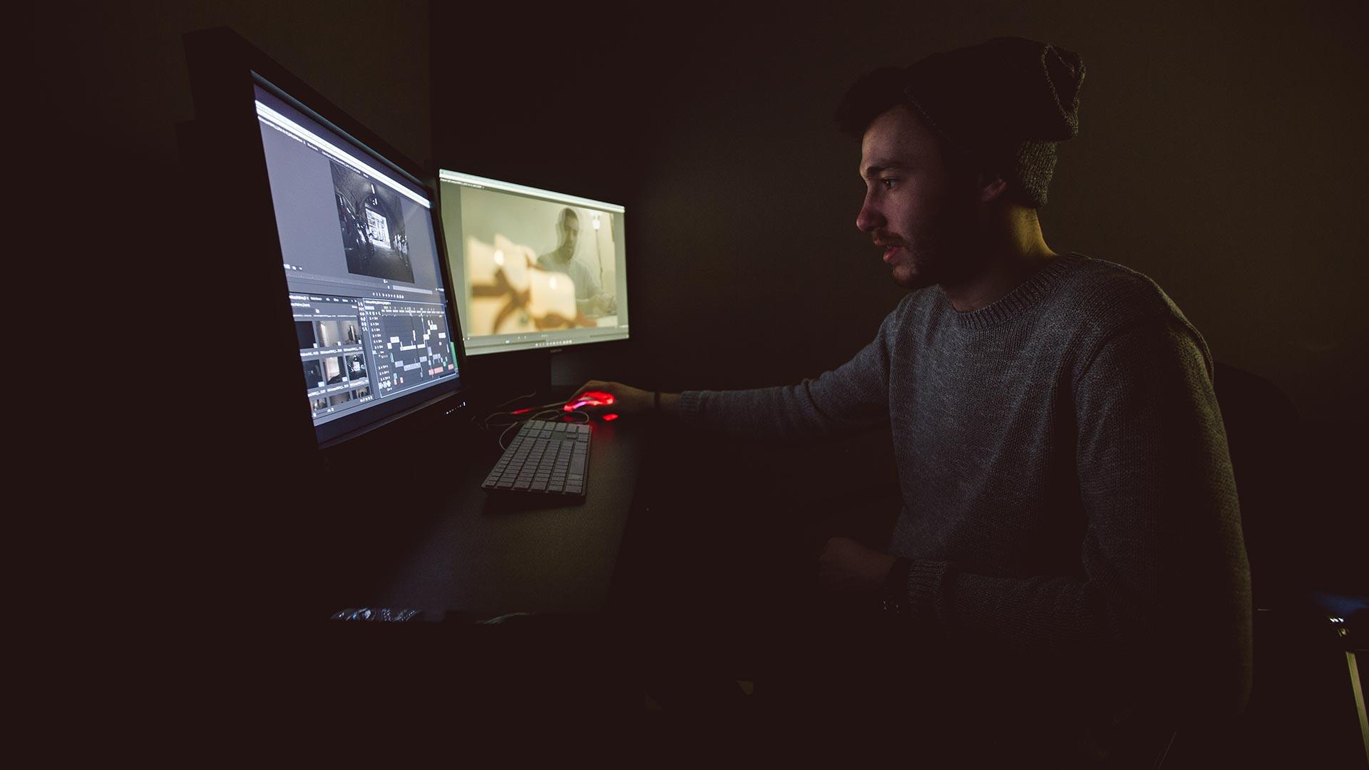 Post production edit suite